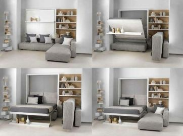 Saving space with creative folding bed ideas 44