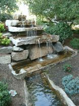 Make a mini waterfall in the garden 1
