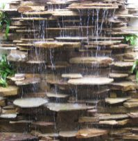 Make a mini waterfall in the garden 18