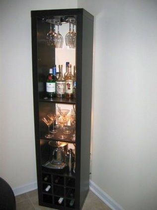 Corner bar cabinet for coffe and wine places 11