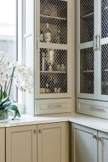 Corner bar cabinet for coffe and wine places 17
