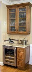 Corner bar cabinet for coffe and wine places 23