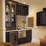 Corner bar cabinet for coffe and wine places 30
