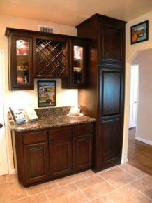 Corner bar cabinet for coffe and wine places 48