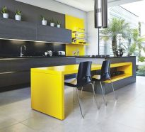 Modern and Contemporary Kitchen Cabinets Design Ideas 65