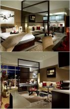 One room apartment layout design ideas 68