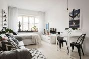 One room apartment layout design ideas 73