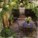 Small courtyard garden with seating area design and layout 100