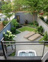 Small courtyard garden with seating area design and layout 117