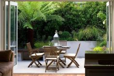 Small courtyard garden with seating area design and layout 24