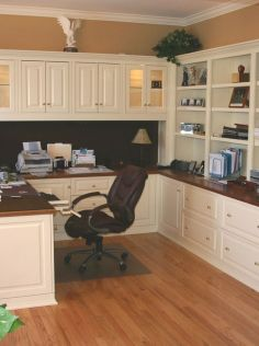 Awesome Built In Cabinet and Desk for Home Office Inspirations 12