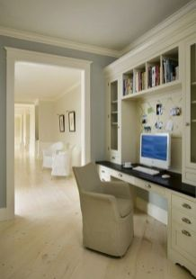 Awesome Built In Cabinet and Desk for Home Office Inspirations 21