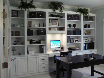 Awesome Built In Cabinet and Desk for Home Office Inspirations 22