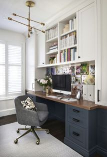 Awesome Built In Cabinet and Desk for Home Office Inspirations 29