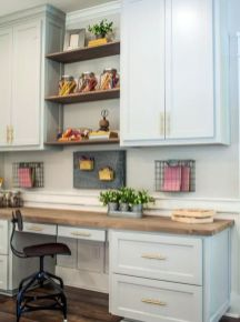 Awesome Built In Cabinet and Desk for Home Office Inspirations 42