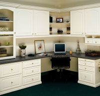 Awesome Built In Cabinet and Desk for Home Office Inspirations 47