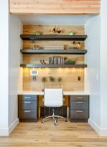 Awesome Built In Cabinet and Desk for Home Office Inspirations 56