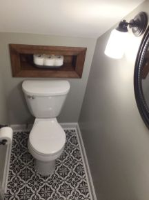 Awesome Cool Ideas To Make Toilet Under Stairs 7