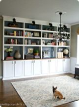 Brilliant Built In Shelves Ideas for Living Room 23