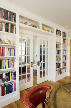 Brilliant Built In Shelves Ideas for Living Room 27
