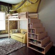 Cool Loft Bed Design Ideas for Small Room 19