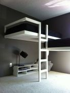 Cool Loft Bed Design Ideas for Small Room 31