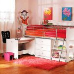 Cool Loft Bed Design Ideas for Small Room 34