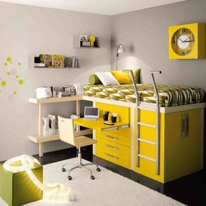 Cool Loft Bed Design Ideas for Small Room 52