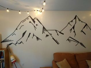 Inspiring Creative DIY Tape Mural for Wall Decor 10