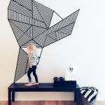 Inspiring Creative DIY Tape Mural for Wall Decor 13