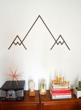 Inspiring Creative DIY Tape Mural for Wall Decor 14