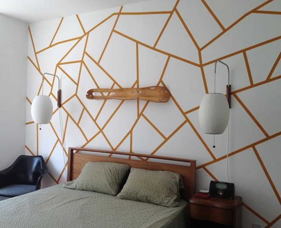 Inspiring Creative DIY Tape Mural for Wall Decor 1