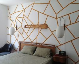 Inspiring Creative DIY Tape Mural for Wall Decor 16