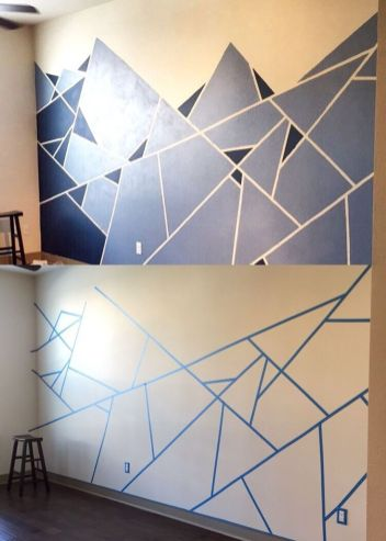 Inspiring Creative DIY Tape Mural for Wall Decor 28