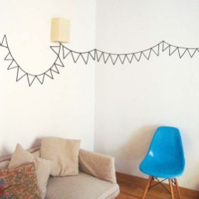 Inspiring Creative DIY Tape Mural for Wall Decor 30