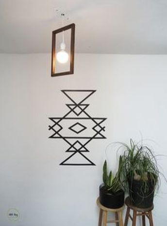Inspiring Creative DIY Tape Mural for Wall Decor 32