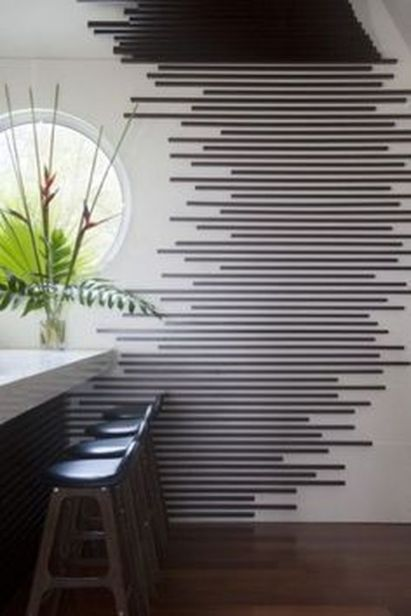 Inspiring Creative DIY Tape Mural for Wall Decor 58