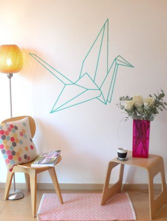 Inspiring Creative DIY Tape Mural for Wall Decor 7