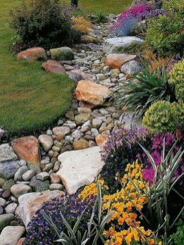 Inspiring Dry Riverbed and Creek Bed Landscaping Ideas 47