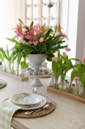 Spring Home Table Decorations Center Pieces 92
