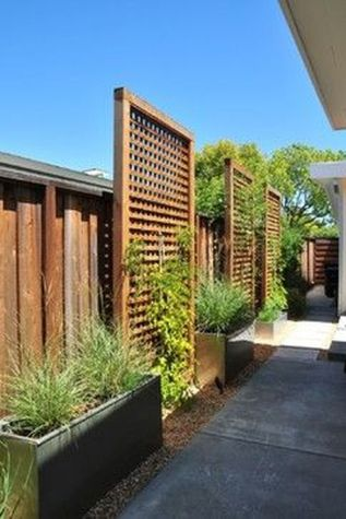 Stunning Privacy Fence Line Landscaping Ideas 5