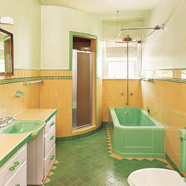 Vintage and Classic Bathroom Tile Design 33