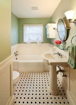 Vintage and Classic Bathroom Tile Design 34