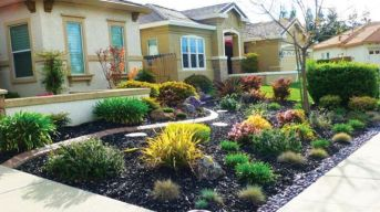 Modern and Contemporary Front Yard Landscaping Ideas 82