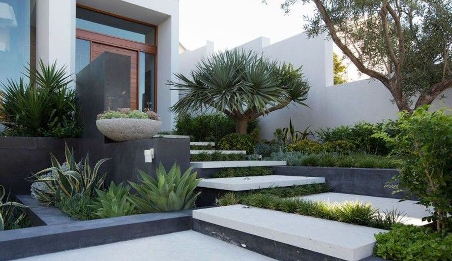 80 Fascinating Modern Contemporary Front Yard Landscaping Rockindeco