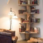 Corner Wall Shelves Design Ideas for Living Room 43