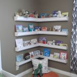 Corner Wall Shelves Design Ideas for Living Room 54