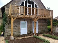 Custom made Wooden Balconies, A Frames, Porches, Gates in