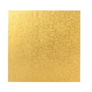 Gold Square Cake Board (20.3 cm) - Thin