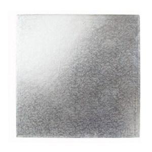 Silver Square Cake Board (20.3 cm) - Thin